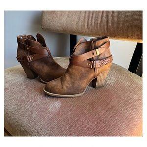 Brown Booties - never worn!!! Like new !!!!